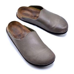 BIRKI'S 250 Birko Taupe Clog Mules Slides